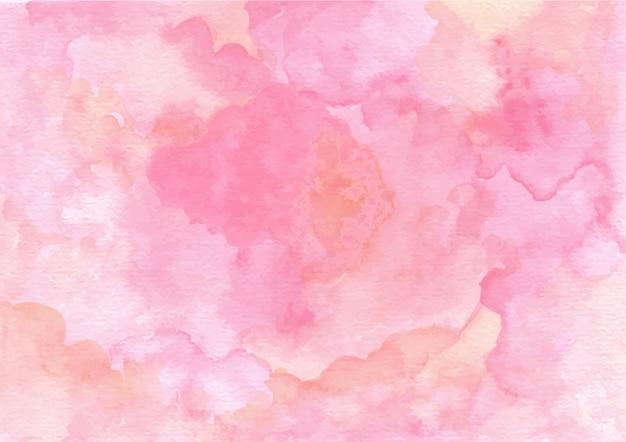 水彩でピンクの抽象的なテクスチャ背景