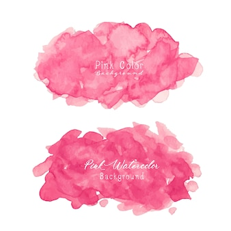Pink abstract watercolor background.