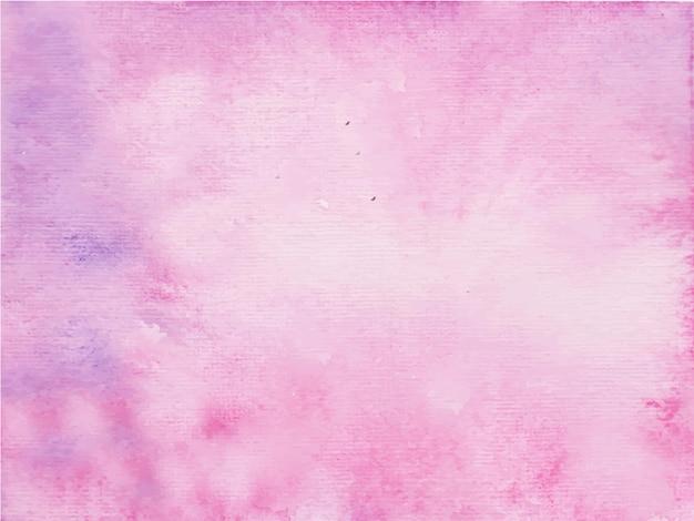 ピンクの抽象的な水彩画のハンドペイント。