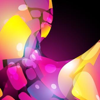 Vettore pinck colore di sfondo onda di progettazione