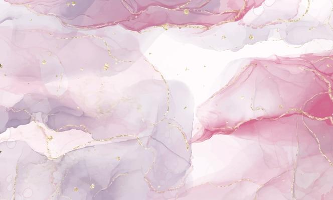 ピンクのアルコールインクの背景。抽象的な流体アート絵画デザイン。
