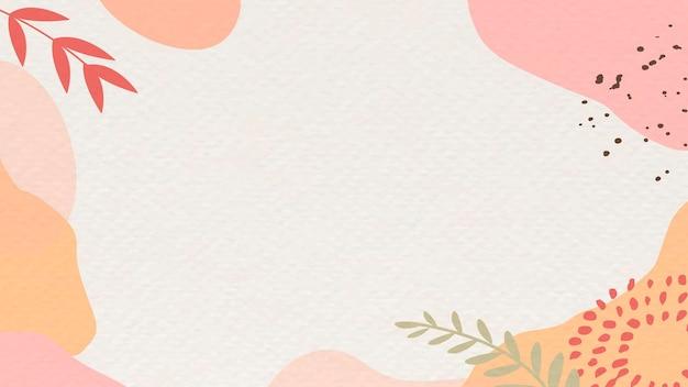 핑크와 베이지색 추상 식물 무늬 배경