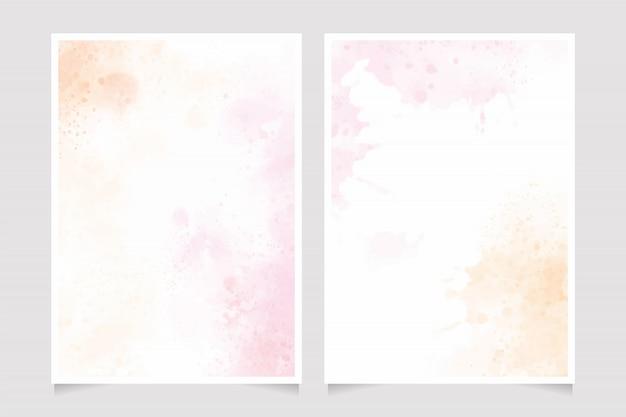 Розовый и золотой фон акварелью
