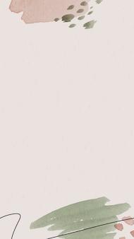 분홍색과 녹색 수채화 무늬 배경 템플릿 벡터