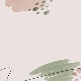 핑크와 그린 수채화 무늬 배경 템플릿