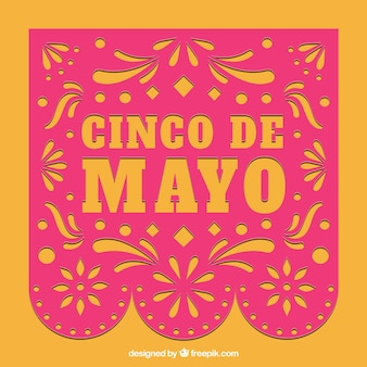 Pink and orange cinco de mayo background