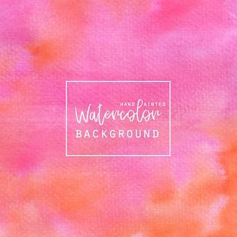 Розовый и оранжевый акварель абстрактного фона