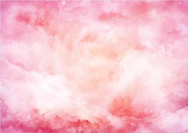 ピンクとオレンジの水彩画の背景