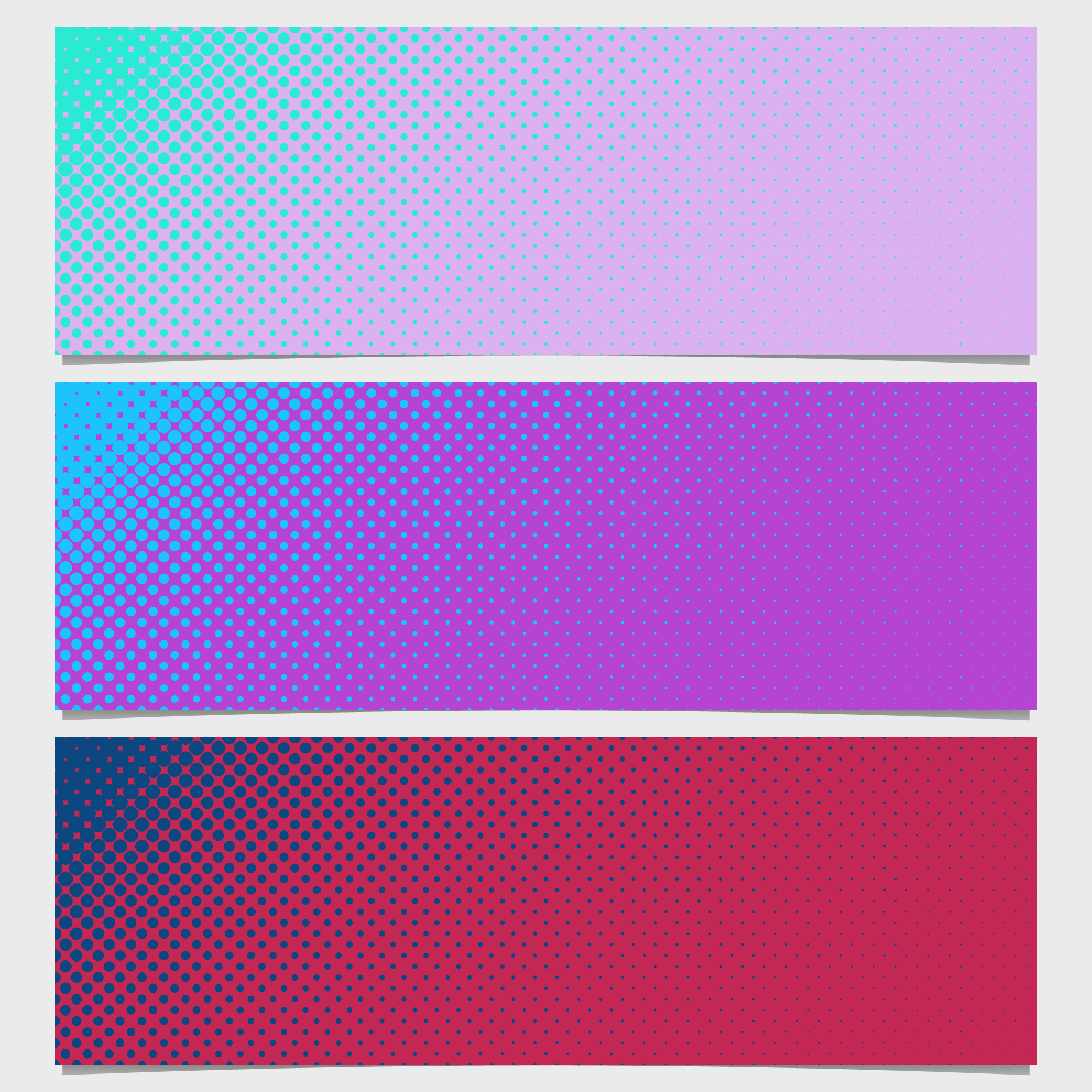 Pink and purple dots banner collection