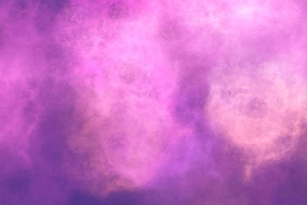 분홍색과 보라색 성운