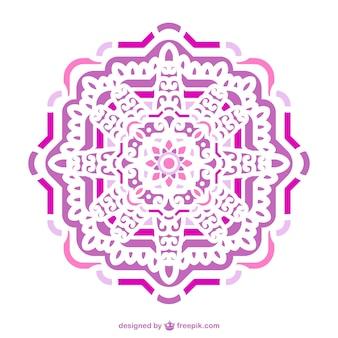 분홍색과 보라색 장식