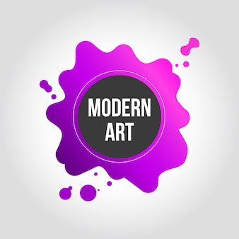 Pink and purple splash modern art banner design