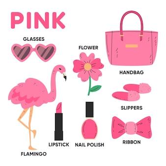분홍색 및 어휘 단어 팩