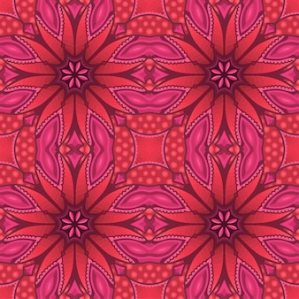 Pink art with motley abstract seamless pattern