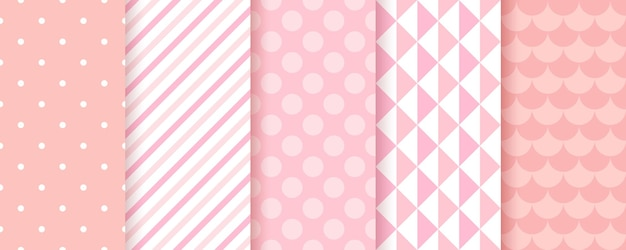 Pink baby shower backgrounds for girls