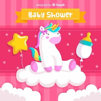 Pink baby shower design for girl