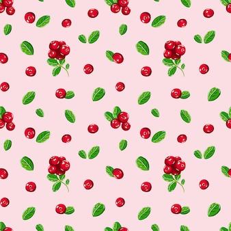 ベリーと葉のピンクのbackgroud