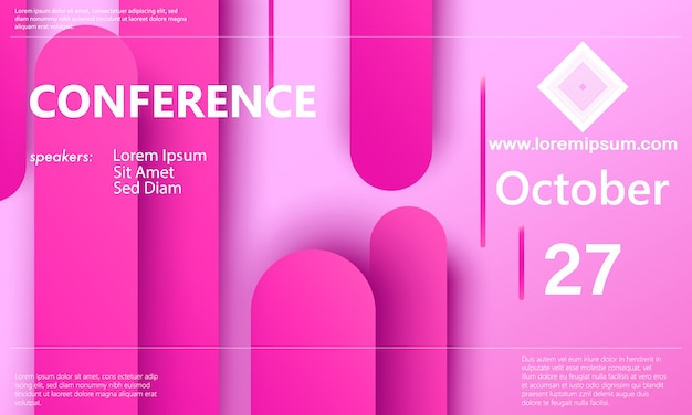 Pink background. conference announcement. business background