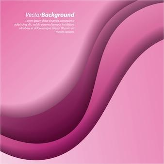 ピンクの背景カーブは、撚り線