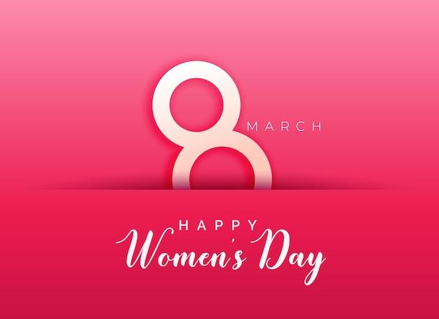 행복한 여성의 날 분홍색 배경