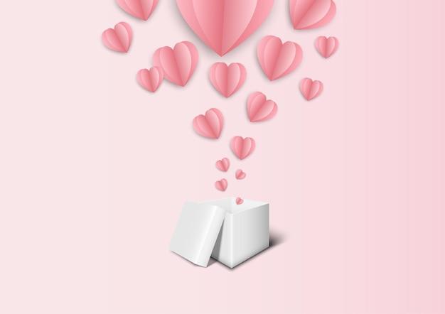バレンタインフェスティバルと結婚式のピンクの背景