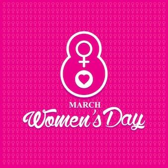 여성의 날 분홍색 배경