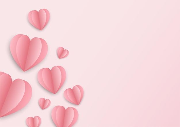 Pink background for valentine festival and wedding