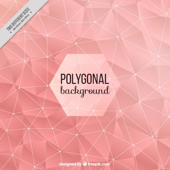 Sfondo rosa con poligoni astratti