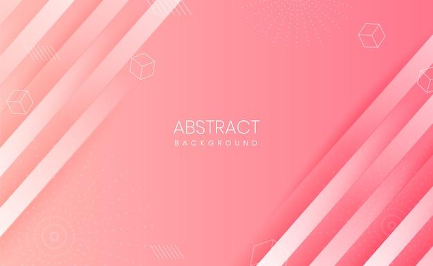 추상적 인 형태와 그라데이션 핑크 배경