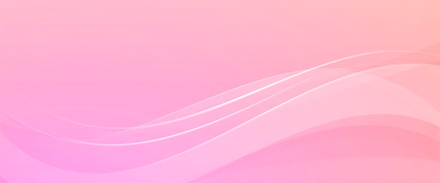 Pink background with abstract waves