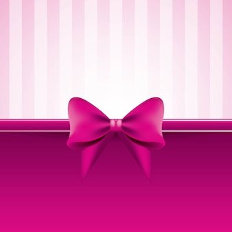 Pink background with bow striped pattern decoration