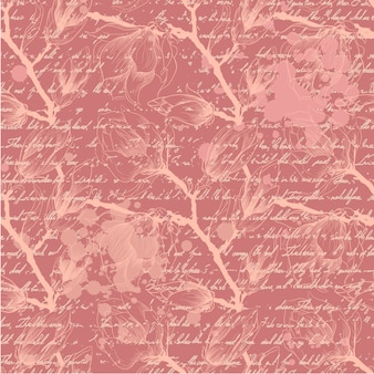 Pink background with branches
