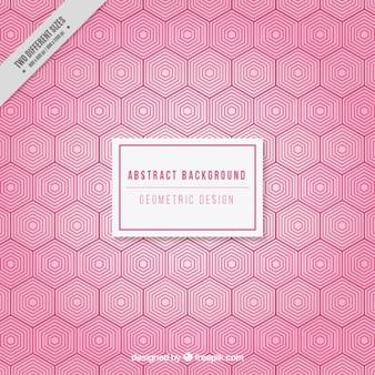 六角形とピンクの背景