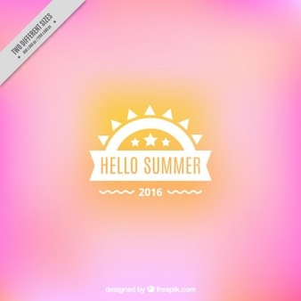 Pink background with a summer badge