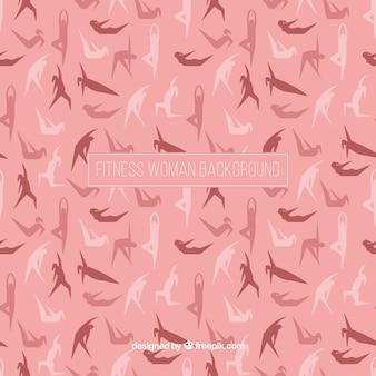 여자의 실루엣 핑크 배경