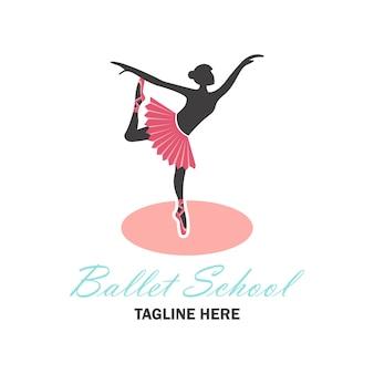 Pink ballet logo