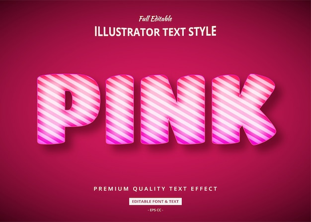 Pink balloon 3d text style effect