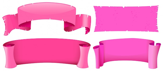 Pink banner templates