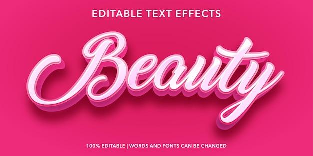ピンクの美しさの編集可能なテキスト効果