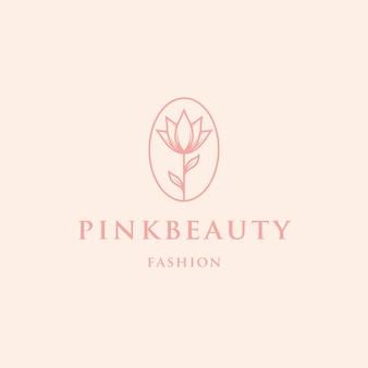 Шаблон логотипа розовый цветок красоты