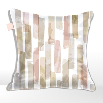 Pink and beige watercolor drawing overlapping stripes  pattern.