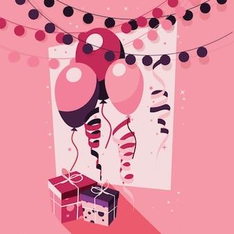 Sfondo rosa compleanno