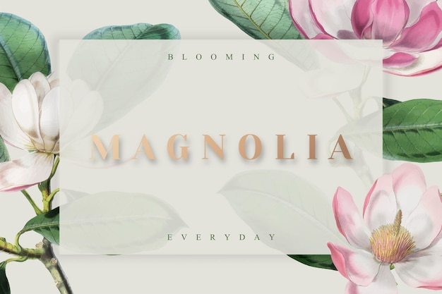 Pink blooming everyday frame vector