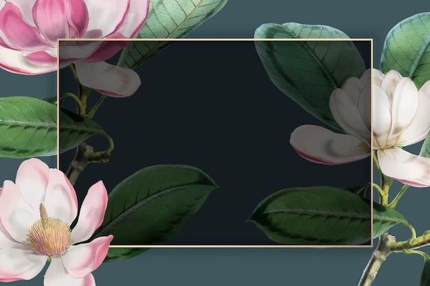 Розовая цветущая цветочная рамка вектор