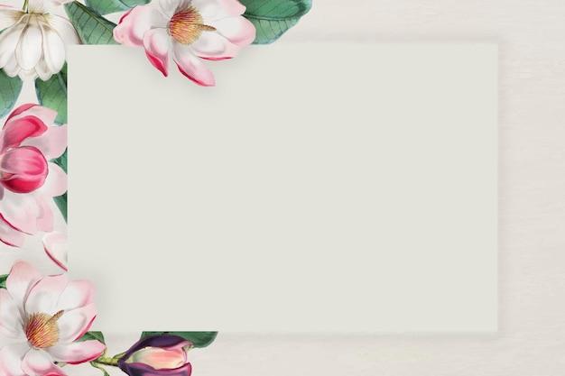Vettore di cornice floreale in fiore rosa