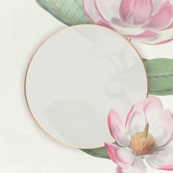 Cornice floreale in fiore rosa
