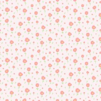 Pink blossom flower seamles pattern
