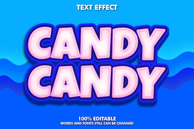 Pink and blue candy editable text
