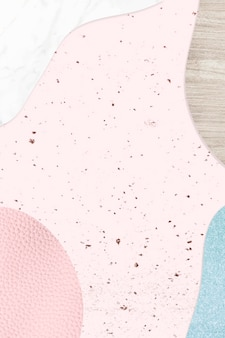 Pink and blue collage textured background vector