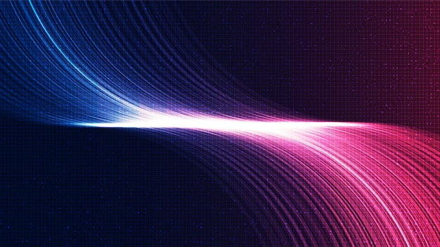 Pink and blue electronic sound technology